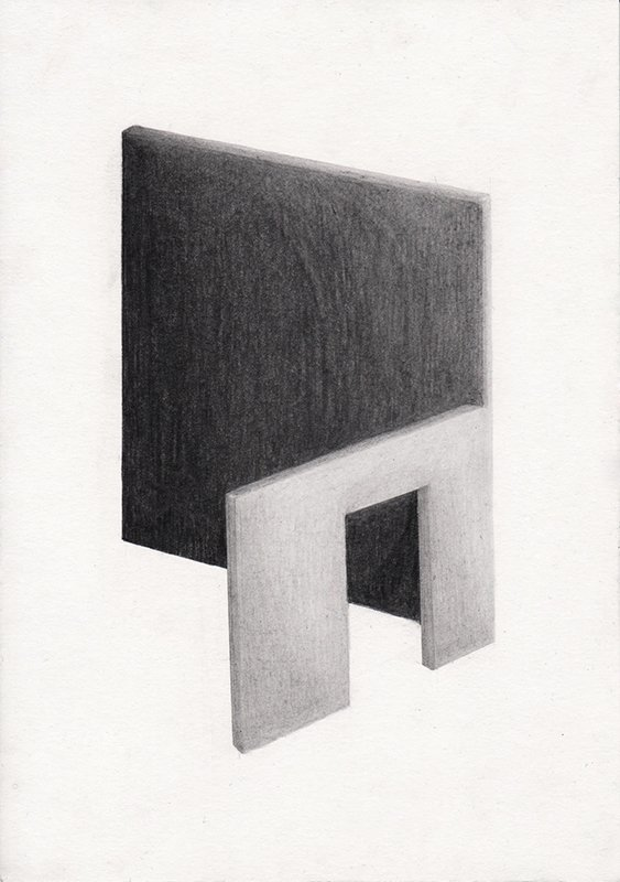 AT HOME, 2020, 21 x 14.8 cm, pencil on paper
