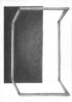 BROKEN ENCLOSURE, 2020, 21 x 14.8 cm, pencil on paper
