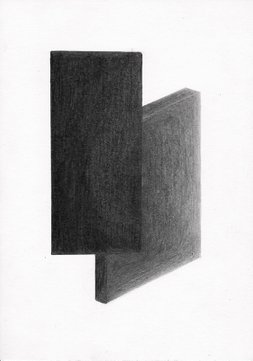 MIRRORS #1, 2020, 21 x 14.8 cm, pencil on paper
