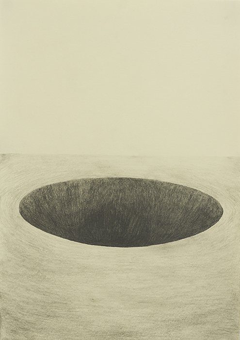 HOLE, 2016, 42 x 29.7 cm, pencil on paper