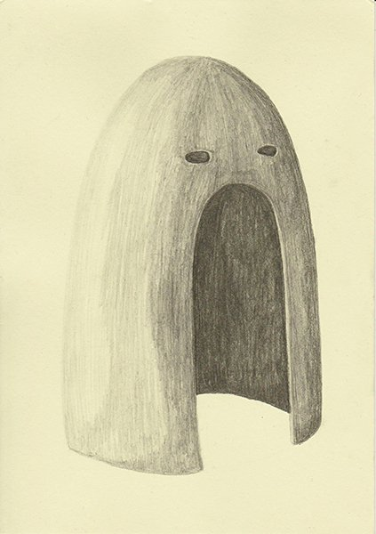 SKEPTIC, 2016, 21 x 14.8 cm, pencil on paper