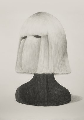 THE WIG, 2016, 70 x 50 cm, pencil on paper